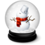 64x64px size png icon of Christmas Snowman