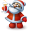 64x64px size png icon of Happy Santa