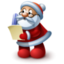 64x64px size png icon of Santa Claus reading