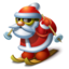 64x64px size png icon of Santa skiing
