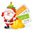 64x64px size png icon of christmas coupons