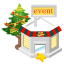 64x64px size png icon of christmas event store