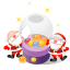 64x64px size png icon of santa christmas balls