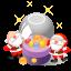 64x64px size png icon of santa christmas balls