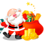 64x64px size png icon of santa gifts bag