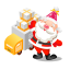 64x64px size png icon of santa gifts truck