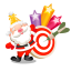 64x64px size png icon of santa stars