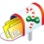 64x64px size png icon of Christmas Mailbox