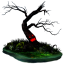 64x64px size png icon of halloween tree