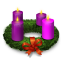 64x64px size png icon of Advent Wreath