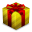 64x64px size png icon of Gift Box Gold