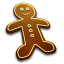 64x64px size png icon of Gingerbread Man