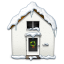 64x64px size png icon of Snowy House
