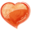 64x64px size png icon of Heart orange