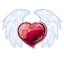 64x64px size png icon of Wing Heart