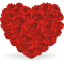 64x64px size png icon of heart of roses