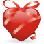 64x64px size png icon of ribbon heart
