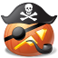 64x64px size png icon of pirate captain
