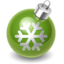 64x64px size png icon of Xmas decoration green