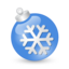 64x64px size png icon of Xmas ball blue
