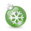 64x64px size png icon of Xmas ball green