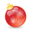64x64px size png icon of Xmas ball red