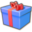64x64px size png icon of Giftbox blue