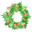 64x64px size png icon of holly garland