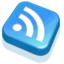 64x64px size png icon of RSS Feed Blue