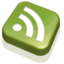 64x64px size png icon of RSS Feed Green