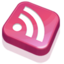 64x64px size png icon of RSS Feed Pink
