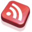 64x64px size png icon of RSS Red