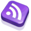 64x64px size png icon of Rss Purple