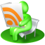 64x64px size png icon of RSS Reader Green