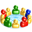 64x64px size png icon of Social network