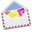 64x64px size png icon of AirMail Photo