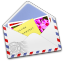 64x64px size png icon of AirMail Stamp Photo