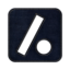 64x64px size png icon of Slash dot square