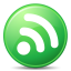 64x64px size png icon of Feeds Green