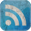 64x64px size png icon of Feed blue grunge
