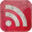 64x64px size png icon of Feed red grunge