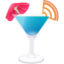 64x64px size png icon of RSS blue cocktail