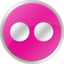 64x64px size png icon of flickr Pink