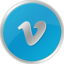 64x64px size png icon of vimeo
