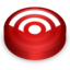 64x64px size png icon of Rss red circle