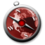 64x64px size png icon of safari red