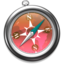 64x64px size png icon of Safari roze