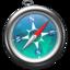 64x64px size png icon of Safari zeeblauw