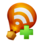 64x64px size png icon of Ballon RSS Feed Add