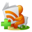 64x64px size png icon of Newspaper RSS Feed Add